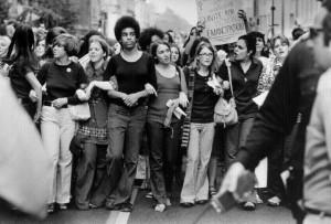 Demonstracja kobiet, lata 70.