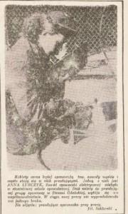 Anna Walenytnowicz, spawaczka.  Źródło: Dziennik Bał'tycki, 6-7.12.1953