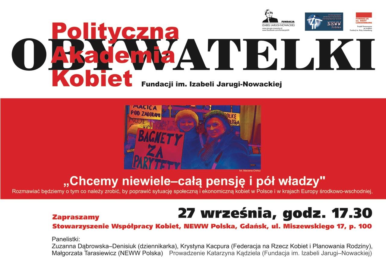 Plakat spotkania Obywatelek