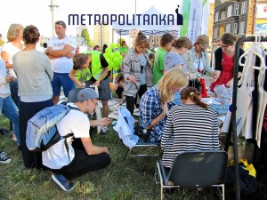 Piknik sąsiedzki na ul Jana z Kolna. Stoisko Metropolitanki cieszyło się dużą popularnością :)