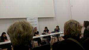Monika Kwiatkowska w trakcie panelu. Fot. I. Piatek. Źródło