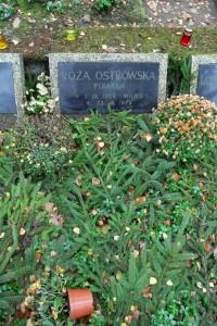 Nagrobek Róży Ostrowskiej z cmentarza Srebrzysko. Źródło: Wikipedia