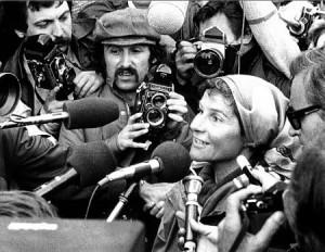 Chojnowska po zakończeniu rejsu dookoła świata. Źródło: kolosy.pl